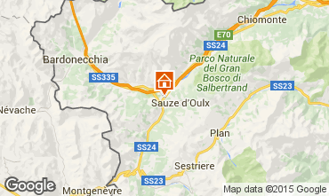 Map Sauze d'Oulx Apartment 59612