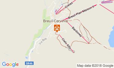 Map Cervinia (Breuil) One-room apartment 54302