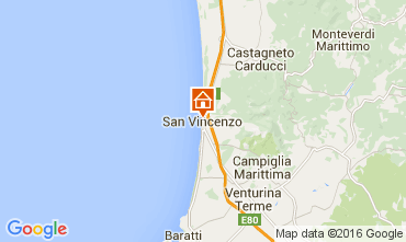 Map San Vincenzo Apartment 42077