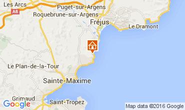 Map Les Issambres Villa 104843
