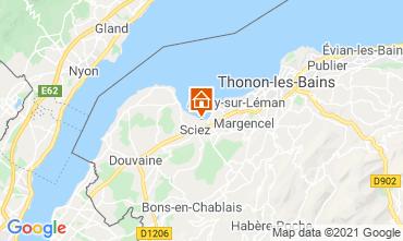 Map Thonon Les Bains Chalet 14972