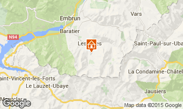 Map Les Orres One-room apartment 14569