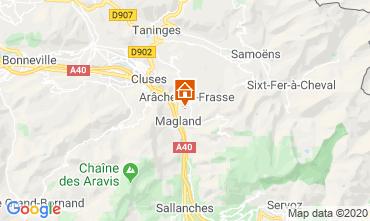 Map Les Carroz d'Araches One-room apartment 60427