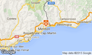 Map Menton One-room apartment 75534