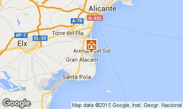 Map Alicante Apartment 75868