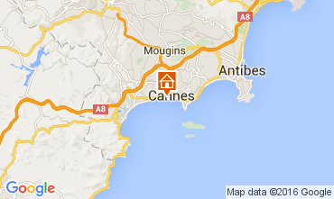 Map Cannes One-room apartment 72181