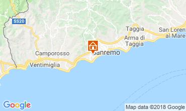 Map Sanremo One-room apartment 105623
