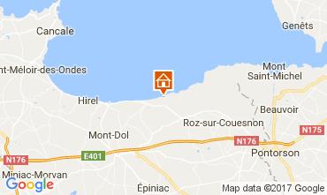 Map Cherrueix Vacation rental 92472