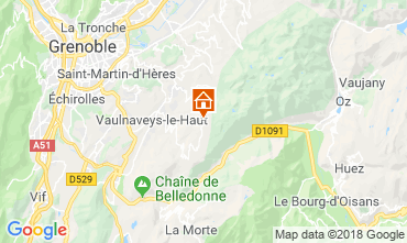 Map Chamrousse One-room apartment 28359
