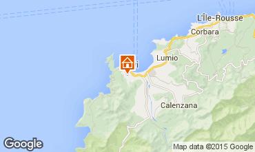 Map Calvi Apartment 86005