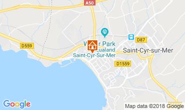 Map Saint Cyr sur Mer Apartment 10285