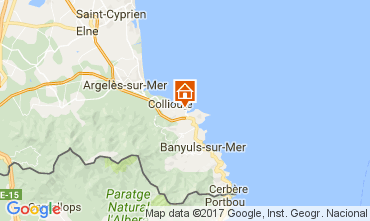 Map Collioure One-room apartment 108264