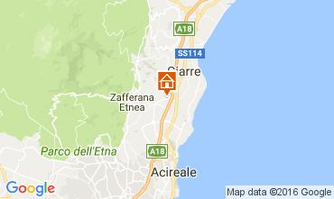 Map Taormina Villa 100095