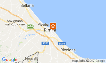 Map Rimini Apartment 110826
