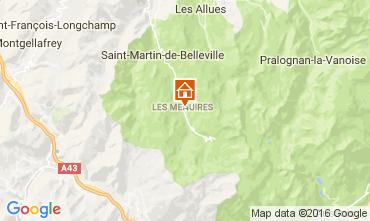 Map Les Menuires Apartment 102524