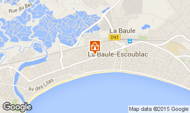 Map La Baule Apartment 69634