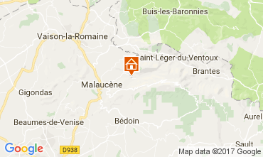 Map Beaumont du Ventoux Vacation rental 12501