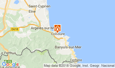 Map Collioure One-room apartment 93662