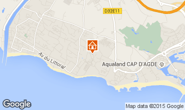 Map Cap d'Agde Mobile home 16390