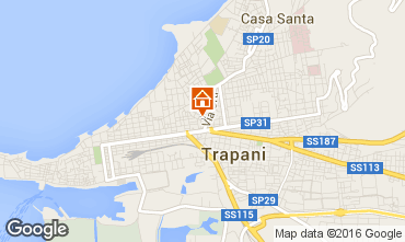 Map Trapani One-room apartment 47308