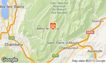 Map Les Aillons One-room apartment 64343