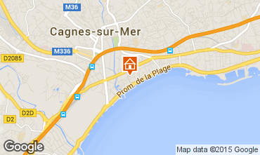 Map Cagnes sur Mer One-room apartment 88013