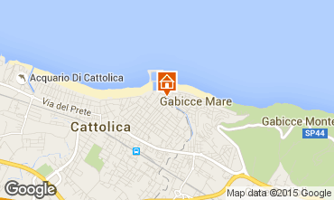 Map Cattolica Apartment 93105