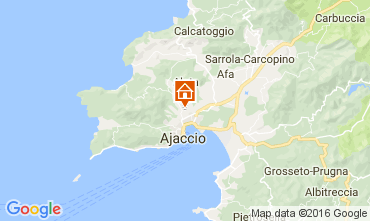 Map Ajaccio Apartment 80878