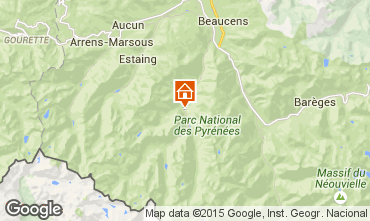 Map Cauterets One-room apartment 4058