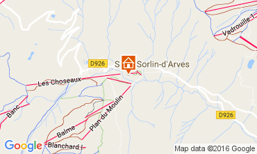 Map Saint Sorlin d'Arves Apartment 27289