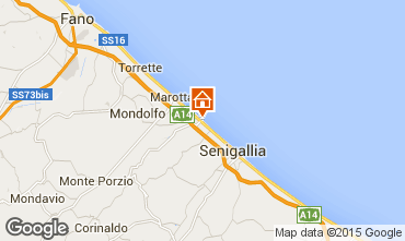 Map Senigallia One-room apartment 77936