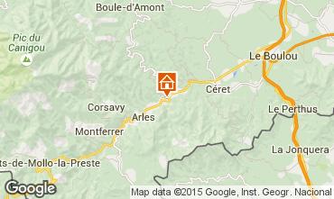 Map Amélie-Les-Bains One-room apartment 87681