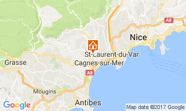 Map Cagnes sur Mer One-room apartment 92776