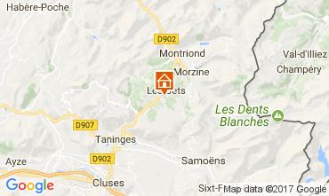 Map Les Gets Chalet 112178