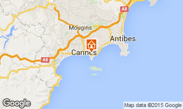 Map Cannes One-room apartment 5524