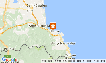 Map Collioure Apartment 108645