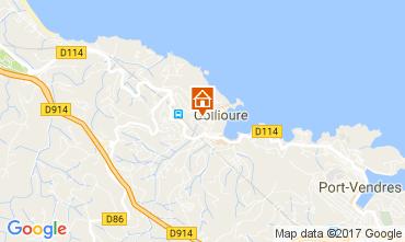 Map Collioure Apartment 108645