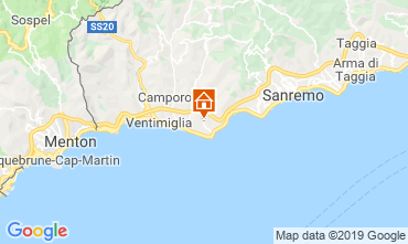 Map Bordighera Apartment 115816