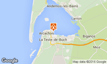 Map Arcachon One-room apartment 6638
