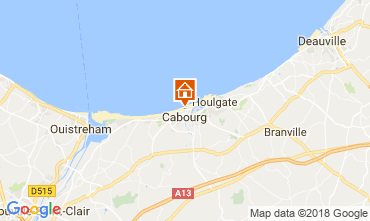 Map Cabourg Apartment 113997