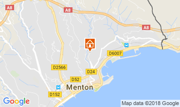 Map Menton Apartment 115764