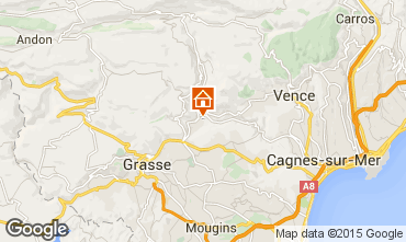 Map Cannes Vacation rental 84023