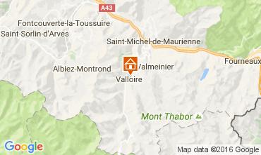 Map Valloire Apartment 74411