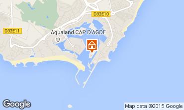 Map Cap d'Agde One-room apartment 29455