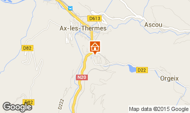 Map Ax Les Thermes Apartment 72066