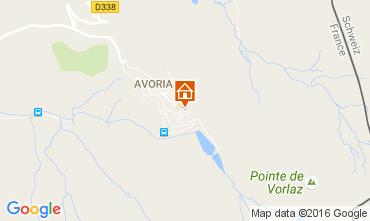 Map Avoriaz One-room apartment 107145