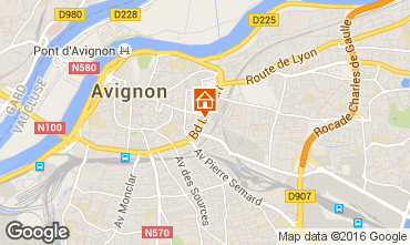 Map Avignon One-room apartment 102312