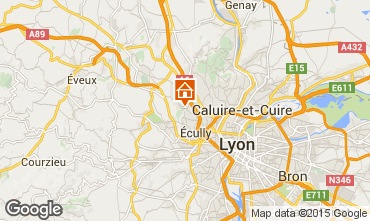 Map Lyon Vacation rental 100775
