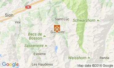 Map Grimentz Apartment 107024