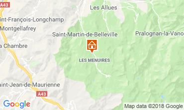 Map Les Menuires Chalet 100576